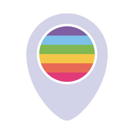 lgbt gps mark flat style icon design, Pride day sexual orientation and identity theme Vector illustration
