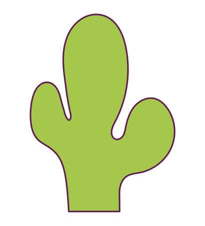 cactus plant nature isolated icon vector illustration design Ilustrace