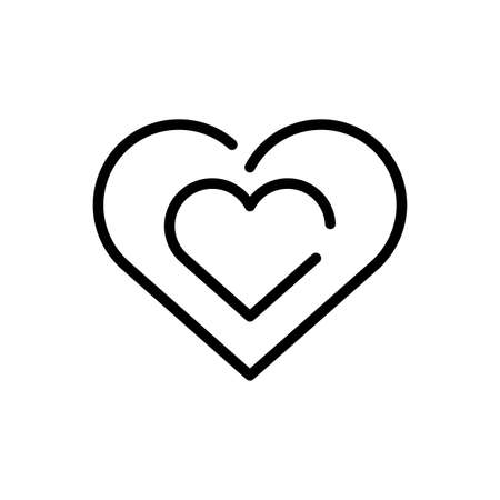 heart symbol over white background, line style icon, vector illustration