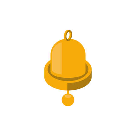 Bell icon design, Ring alert alarm call jingle handbell object sound and music theme Vector illustration