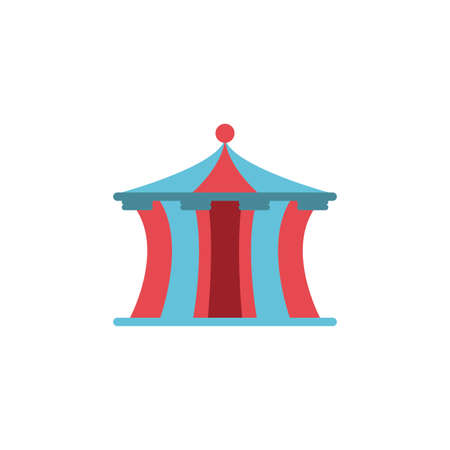 circus tent on white background vector illustration design