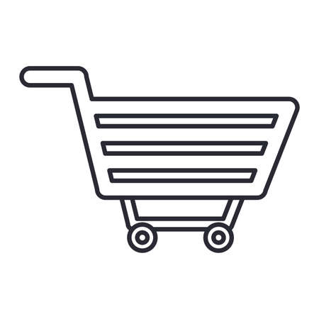 cart icon over white background, vector illustration