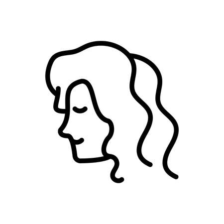 adult woman over white background, line style icon, vector illustration Standard-Bild - 147773822
