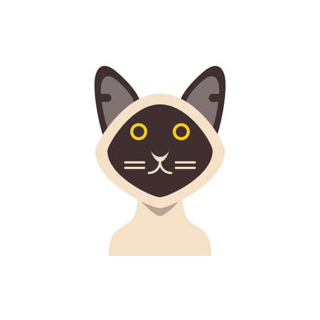 Cute white and black cat cartoon design, Animal pet kitten domestic feline kitty mammal beautiful and portrait theme Vector illustration