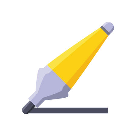 pencil to write on white background vector illustration design