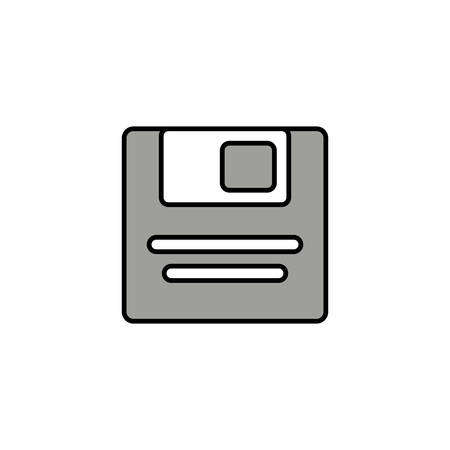 computer diskette , line style icon vector illustration design