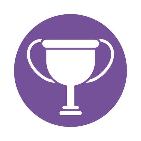 champion trophy , silhouette style icon vector illustration design Stock fotó - 147870132