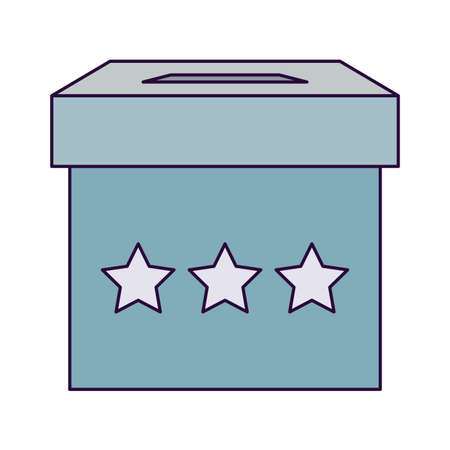 Vote box design, President election government campaign voting politician independence political and united theme Vector illustration Ilustracja