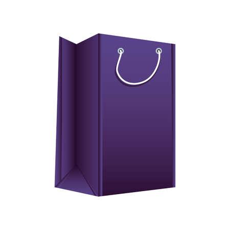 shopping bag on white background vector illustration design