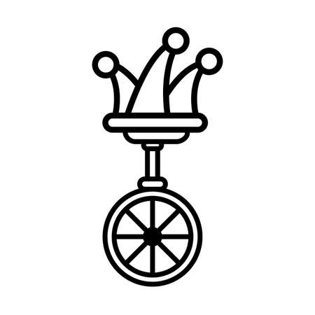unicycle, one wheel bicycle over white background vector illustration design