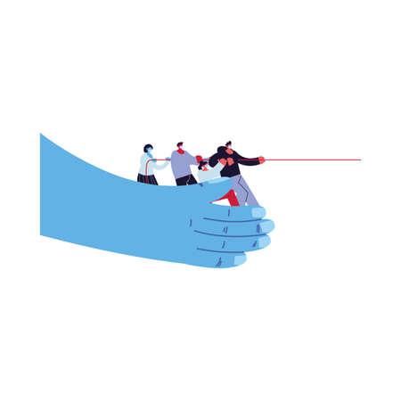 world unit against increased coronavirus vector illustration design