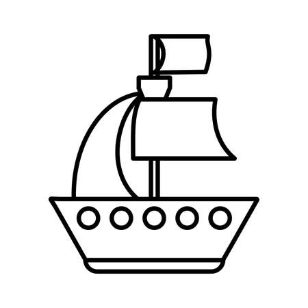 toy ship on white background, baby toys vector illustration design