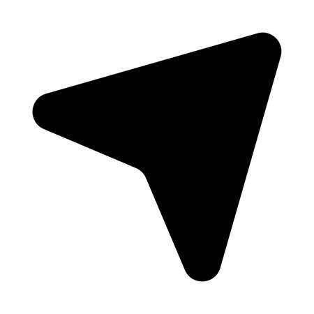 Gps arrow silhouette style icon design, Map travel navigation route road location technology search street and direction theme Vector illustration Çizim