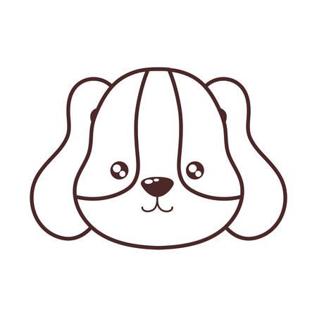 head of cute dog , line style icon vector illustration design