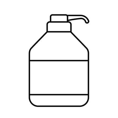 dispensing bottle, line style icon vector illustration design