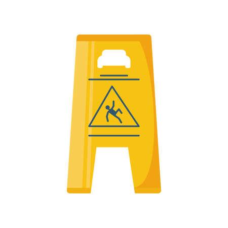 wet floor sign on white background vector illustration design