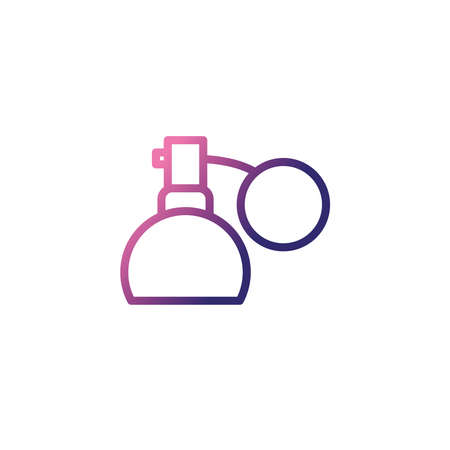 bottle spray, gradient style icon vector illustration design