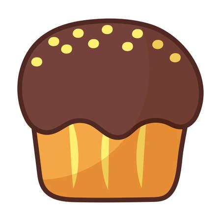 delicious cupcake on white background vector illustration design