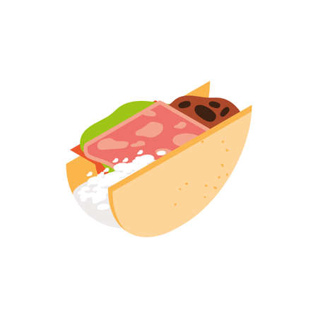 taco design, Eat food restaurant menu dinner lunch cooking and meal theme Vector illustration