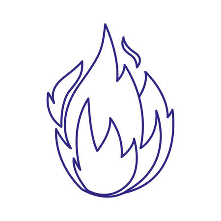 Flame design of Fire bonfire hot burn light flammable heat and campfire theme Vector illustration
