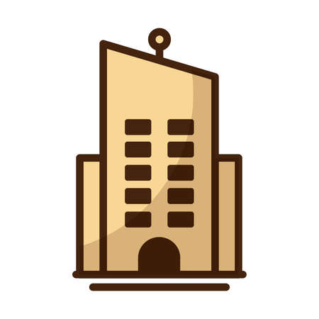 tower of apartment and office building on white background vector illustration design Illusztráció