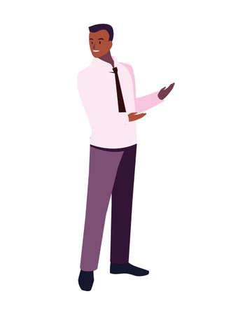 businessman standing on white background vector illustration design