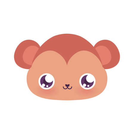 Cute monkey cartoon design, Animal zoo life nature character childhood and adorable theme Vector illustration