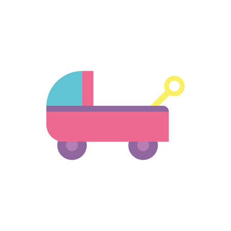 car toy design of Childhood play fun kid game gift object little and present theme Vector illustration