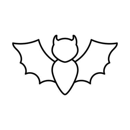 bat flying , line style icon vector illustration design Фото со стока - 148084334