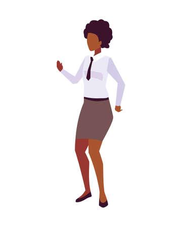 businesswoman standing on white background vector illustration design Ilustração