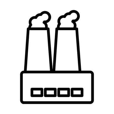 factory smoke , line style icon vector illustration design