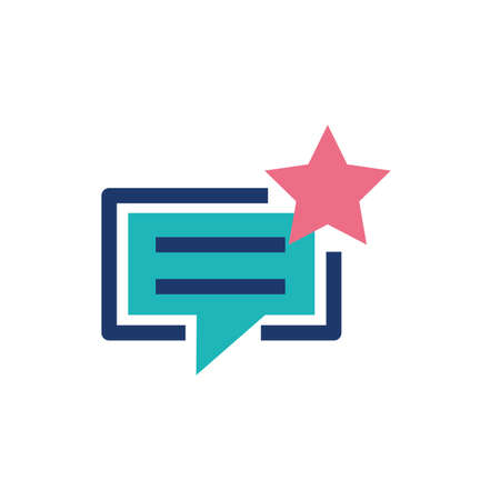 Communication bubble and star design, Message discussion conversation talk and technology Vector illustration 向量圖像