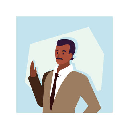 businessman in the office, business professional man vector illustration design Vektorové ilustrace