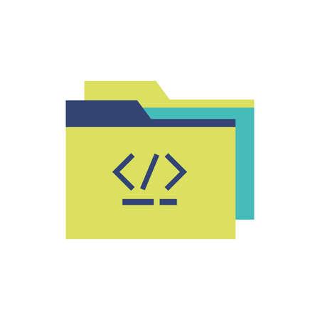 Website code and file design, Programming web designer technology internet media modern and development theme Vector illustration