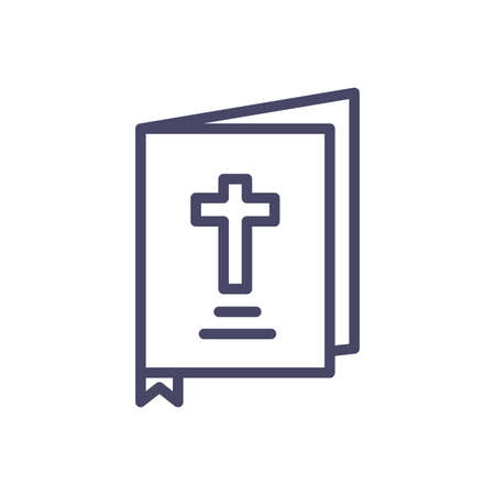 holy bible icon over white background, line style, vector illustration 版權商用圖片 - 148092569