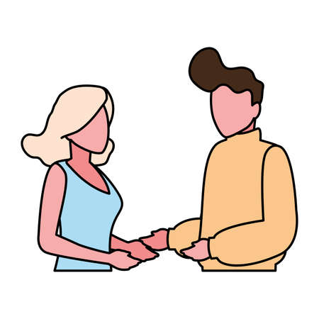 couple of people on white background vector illustration design 版權商用圖片 - 148092636