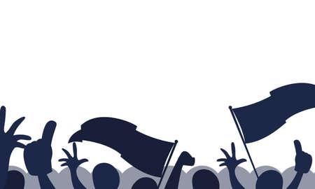 crowd of people at a soccer stadium vector illustration design 向量圖像