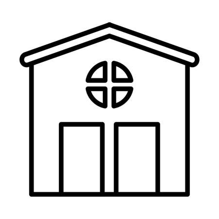 garden shed , line style icon vector illustration design