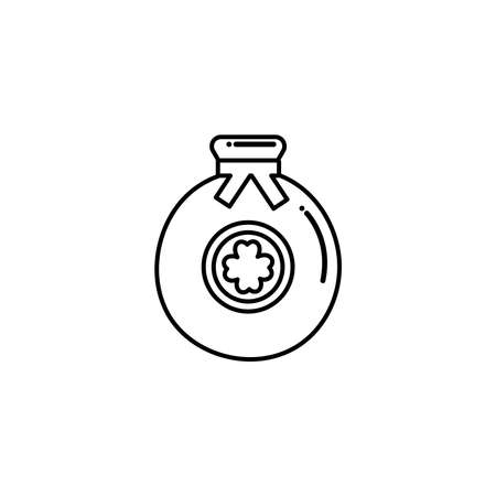 bag with money , flat style icon vector illustration design