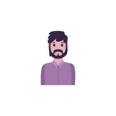 Avatar man with mustache design, Boy male person people human social media and portrait theme Vector illustration