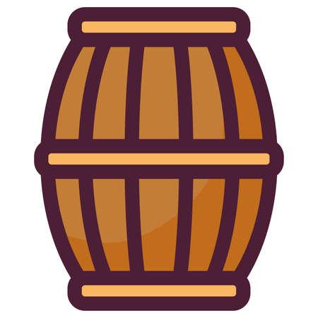 beer wooden barrel icon vector illustration design