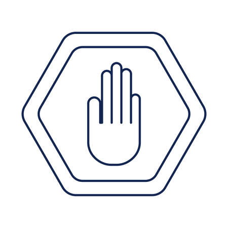 no handshake, line style icon vector illustration design