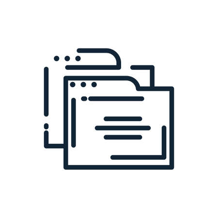 File icon design, Document data archive storage organize business office and information theme Vector illustration