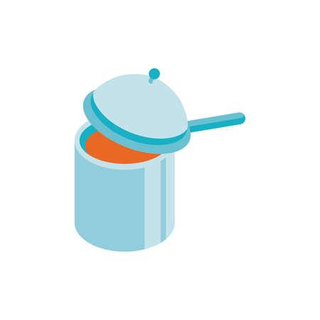 kitchen saucepan design, Eat food restaurant menu dinner lunch cooking and meal theme Vector illustration Ilustração