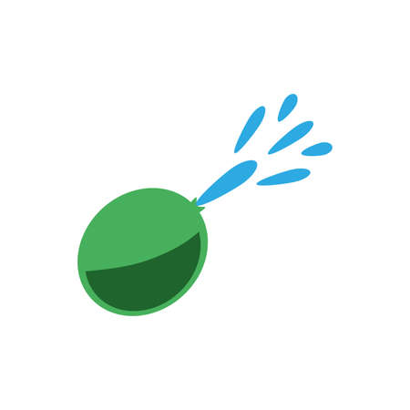 water balloon over white background, flat style icon, vector illustration