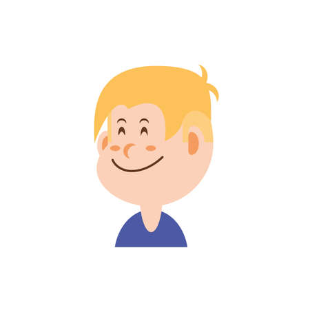 boy cartoon with blond hair design, Kid childhood little people lifestyle casual person cheerful and cute theme Vector illustration