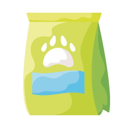 pet food bag on white background vector illustration design Ilustração