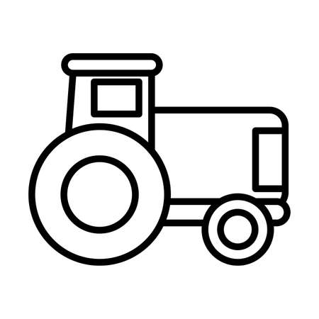 gardening tractor , line style icon vector illustration design
