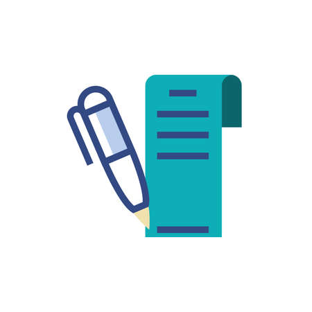 Document and pen design, Data archive storage organize business office and information theme Vector illustration