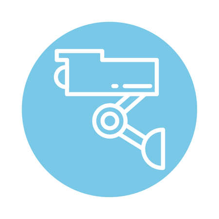 security camera, block and flat style icon vector illustration design